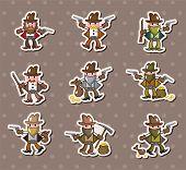 pic of bucking bronco  - Cowboy Stickers - JPG