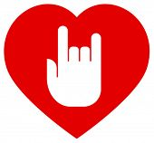 Love rock vector icon