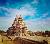 picture of tamil  - Vintage retro hipster style travel image of famous Tamil Nadu landmark  - JPG