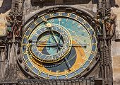 Astronomical clock on Town Hall. Prague, Czech Republic
