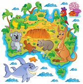 picture of platypus  - Australian map theme image 3  - JPG