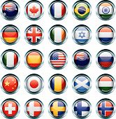 pic of holland flag  - Twenty five buttons with various country - JPG