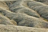 foto of mud  - Dried rivers of mud from Mud Volcanoes Buzau Romania - JPG