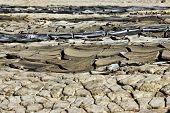 image of mud  - Dried rivers of mud from Mud Volcanoes Buzau Romania - JPG