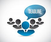 foto of last day work  - work deadline message illustration design over a white background - JPG