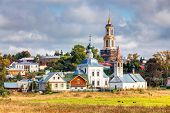 stock photo of paysage  - View of the church in Suzdal - JPG