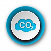 pic of carbon-dioxide  - carbon dioxide blue modern web icon on white background - JPG