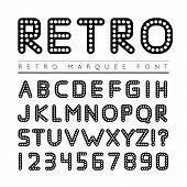 image of marquee  - Retro marquee font - JPG