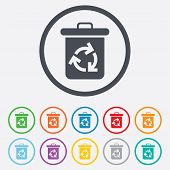 picture of reuse  - Recycle bin icon - JPG