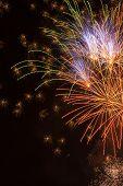 stock photo of diwali  - July 4th fireworks in Portland Oregon - JPG