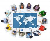 picture of globalization  - World Global Business Cartography Globalization International Concept - JPG