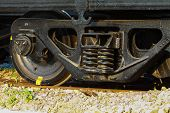image of caboose  - Wheel of train or railway - JPG