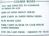 Golf Course Rules