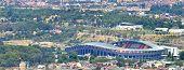foto of macedonia  - Aerial view of a soccer field in a city Filip II Stadium Skopje Macedonia  - JPG