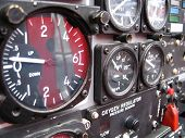 image of snowbird  - gauges from cockpit of snowbird plane - JPG