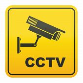 pic of cctv  - CCTV in operation sign for safety and security - JPG
