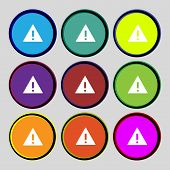 picture of hazard symbol  - Attention sign icon - JPG