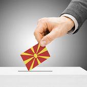 stock photo of macedonia  - Voting concept  - JPG