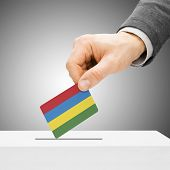 picture of mauritius  - Voting concept  - JPG