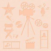 Постер, плакат: Movie And Music Icons