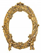 pic of cherub  - Oval Picture Frame with Cherubs isolated on white - JPG