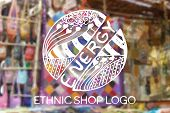 picture of heartwarming  - Detailed hand drawn zentangle logo on blurred background - JPG