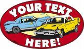 image of redneck  - Vector illustration of design for demolition cars derby - JPG