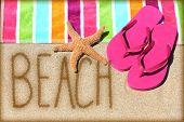 pic of suntanning  - Beach vacation concept  - JPG