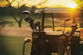 picture of cart  - Golf cart  - JPG