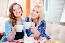 stock photo of  friends forever  - Their friendship will last a lifetime - JPG