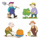 pic of trolley  - Cartoon Gardeners Work - JPG