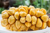foto of south east asia  - Group of fresh chempedak arils a fruit native to South East Asia region - JPG