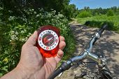 foto of compasses  - The compass and the bike - JPG