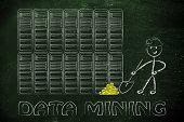 stock photo of gold mine  - data mining - JPG