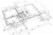 pic of architecture  - part of architectural project engineering and architecture drawings - JPG