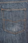 stock photo of denim jeans  - Photo of jeans pocket denim blue background - JPG