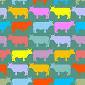picture of cow  - Cow seamless pattern - JPG
