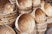 pic of karnataka  - Bamboo basket on the street market - JPG