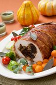 foto of brussels sprouts  - Delicious bacon - JPG