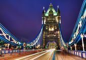 image of london night  - Tower bridge in London Great Britain at the night time - JPG