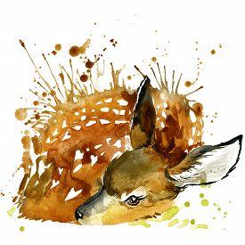 image of deer  - deer T - JPG