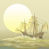 stock photo of christopher columbus  - Christopher Columbus caravel  - JPG