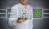 Los Gehts (in German Here We Go Start Reboot) Touchscreen Concept Background poster