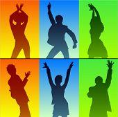 stock photo of jive  - dancer silhouette - JPG