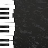 Keyboard, Musical Instrument Design Realistic Style And Background Poster Music For Commercial Vecto poster