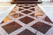 Постер, плакат: Marble Or Granite Floor Slabs For Outside Pavement Flooring
