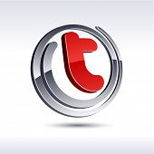 stock photo of letter t  - T 3d vector icon such logos - JPG