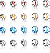 Vector illustration of letter symbols.