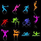 Постер, плакат: Оригинальные векторные иллюстрации: спортивная коллекция иконок