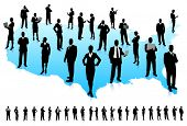 stock photo of usa map  - Business People Silhouette Unique high - JPG